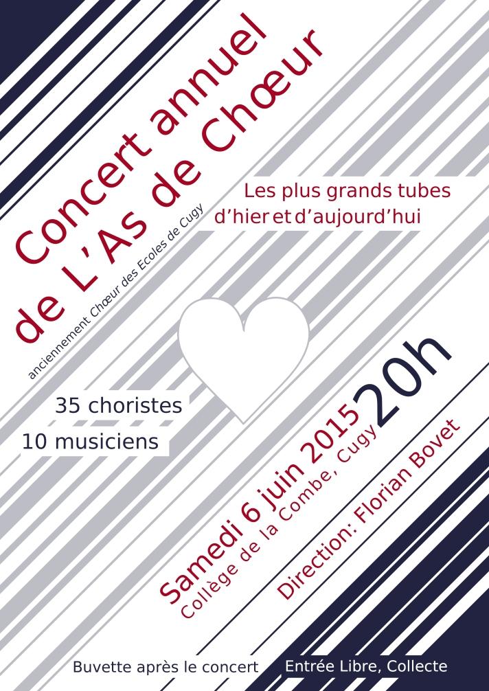 Affiche concert Cugy 2015